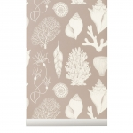 Tapeta Shells Katie Scott by Ferm Living - rose + klej gratis