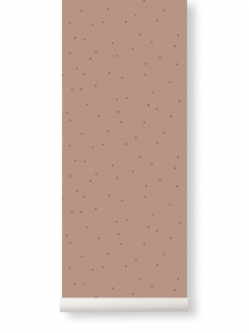 Ferm Living Dot tapeta - rose
